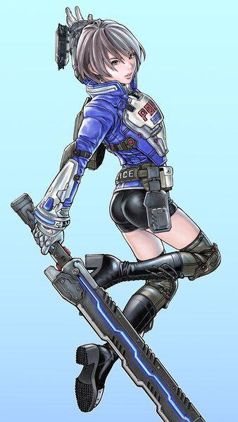 Astral Chain Female Character Akira Howard Art 8k Hd