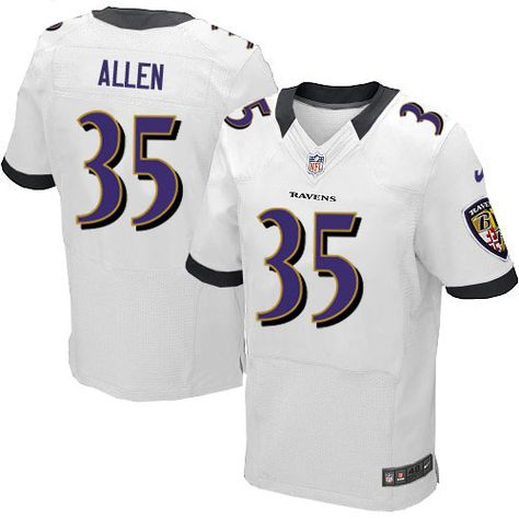 NFL Baltimore Ravens  35 Anthony Allen Elite White Men Jersey  776d0e3a8