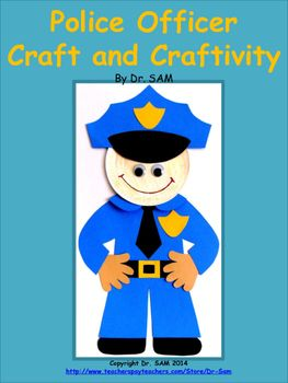 Community Helpers / Police Officer Craft and Craftivity