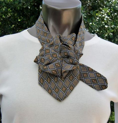 Ladies Necktie Scarf, Geoffrey Beene Silk tie, Upcycled Necktie Scarf, a unique Necktie Necklace, As