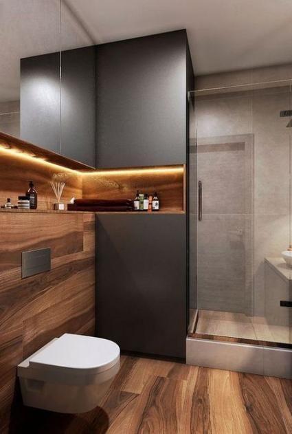 39 Ideas For Black Wood Walls Design Trendy Bathroom Tiles Bathroom Design Small Modern Bathroom Inspiration Modern