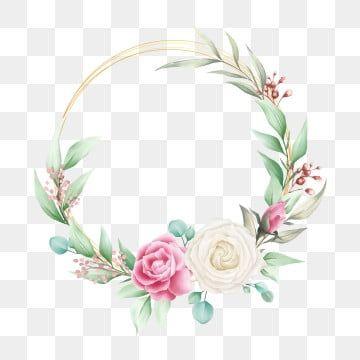 Elegant Floral Frame For Wedding Composition Floral Clipart Invitation Invite Png And Vector With Transparent Background For Free Download Floral Border Design Flower Frame Floral Wreaths Illustration