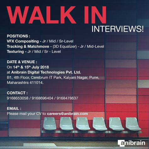 Vfx And Animation Jobs At Anibrain Vfx Pune India Learning And Development Job Office Politics