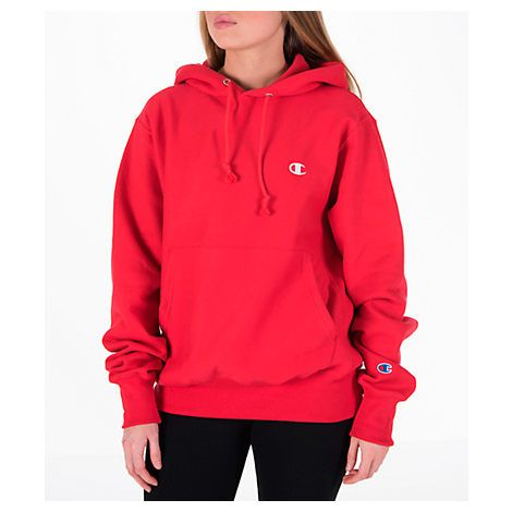 Shop CHAMPION Women'S Reverse Weave Hoodie, Red, starting at
