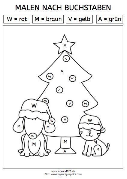 Malen nach Buchstaben (Download) - | Kinder Arbeitsblätter ...
