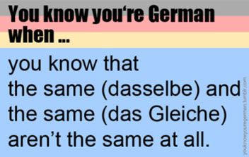 Dasselbe & das Gleiche - Not the same at all | German Language Blog