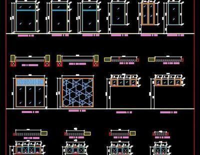 Window And Toilet Ventilator Plan And Elevations Dwg Details Window Grill Design Autocad Door Design Modern