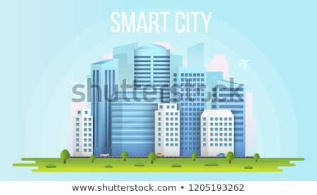 Creative Vector Illustration Of Smart City Urban Landscape Isolated On Transparent Background Art Design Social Media Comm Smart City Vector Illustration City