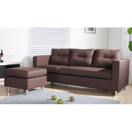 Fabulous Caius Modern Faux Leather Sectional Sofa And Ottoman Set Unemploymentrelief Wooden Chair Designs For Living Room Unemploymentrelieforg