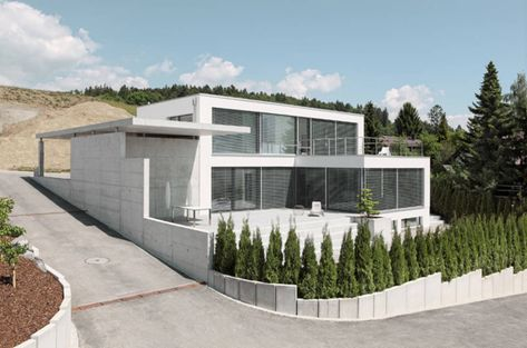 Fertighaus am Hang Modernes Fertighaus mit Ausblick Haus