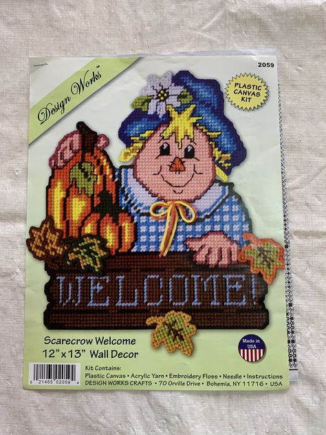 """INDIAN SUMMER Thanksgiving Plastic Canvas Kit  13.5/"""" x 18/"""" Design Works  w//beads"""