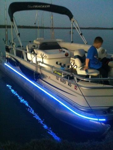 Led Boat Light Kit Under Deck Wakeboardboataccessories Led Boat Lights Boat Lights Pontoon Boat