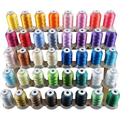 New brothread 25 Colors Variegated Polyester Embroidery Machine Thread Kit 500M Each Spool for Janome Brother Pfaff Babylock Singer Bernina Husqvaran Embroidery and Sewing Machines 550Y