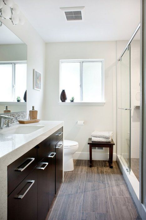 20 Beautiful Master Bathrooms With Wood Floors Wood Floor