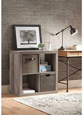 805550c86652458285d1709dff621892 - Better Homes And Gardens 4 Cube Organizer Rustic Gray