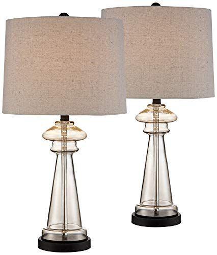 Dalia Champagne Glass Table Lamp Set Of 2 360 Lighting Https Www Amazon Com Dp B01n34wciq Glass Table Lamp Table Lamp Wood Traditional Table Lamps
