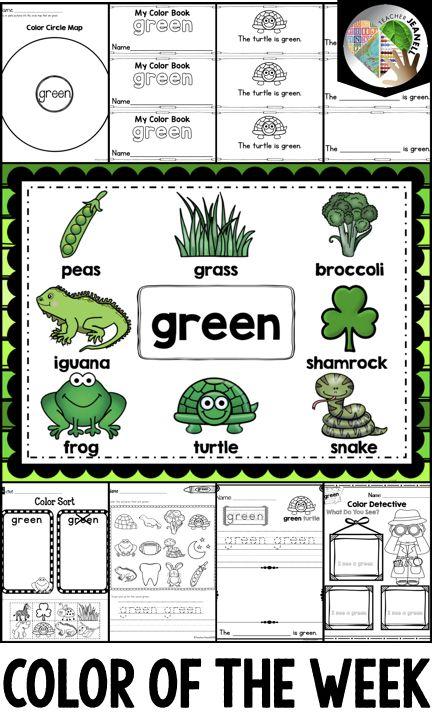 Color Green Activities Green Activities Activities Color Activities Green colour theme for preschool