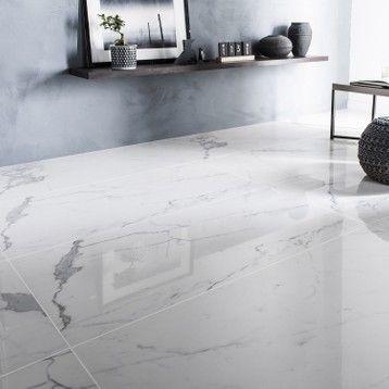Carrelage Sol Et Mur Intenso Marbre Blanc Rimini L 60xl 120cm