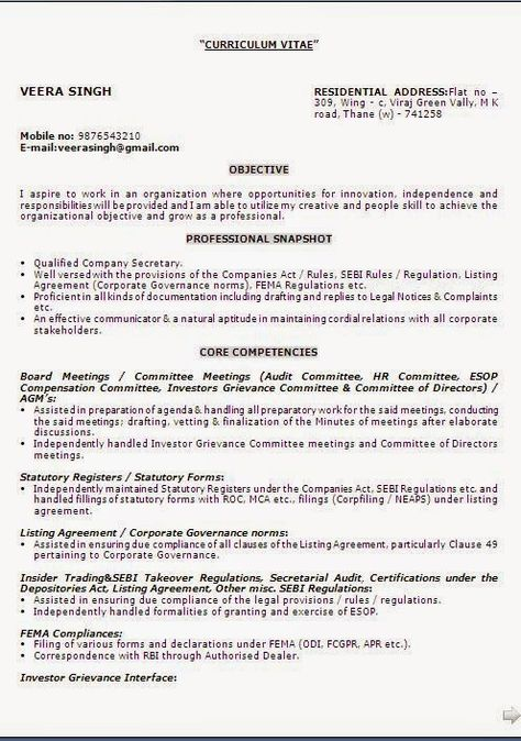 download resume templates word Sample Template Example ofExcellent - corporate resume templates