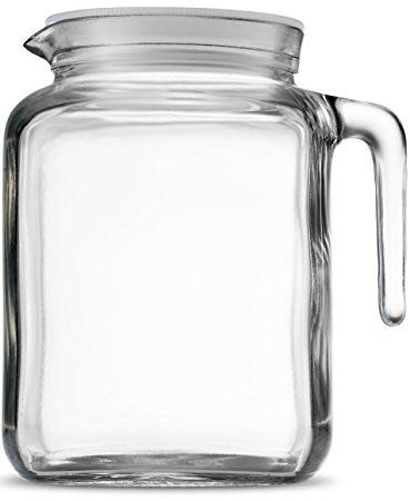 Bormioli Rocco Hermetic Seal Glass Pitcher With Lid And Spout 68 Ounce Great For Homemade Juice Iced Tea Glass Milk Bottles Glass Jug Glass Jars With Lids