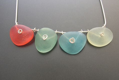 Faux seaglass from Fimo Liquid Polymer Gel ~ by Kathrin Neumaier  #handmade #jewelry #DIY