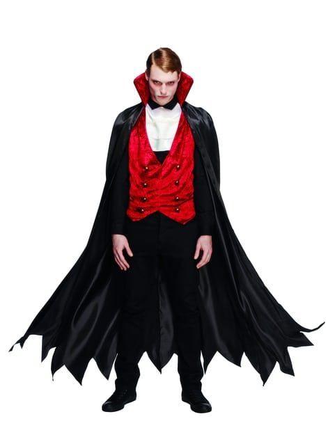 Count Dracula Costume Adult Victorian Vampire Halloween Fancy Dress