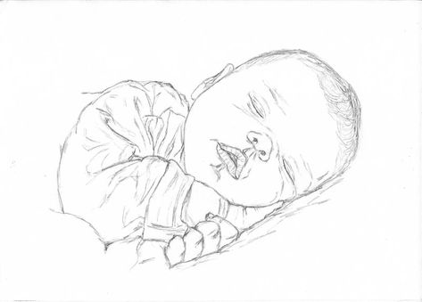 Pin By Danie O On Carson Johnson In 2020 Baby Drawing Sleeping Drawing Children Sketch