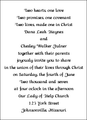 Wedding Invitation Wording Sample 4 | Marry Me | Pinterest | Weddings,  Wedding And Wedding Stuff