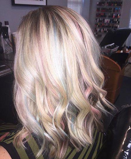 Pastel Highlights In Hair Pastel Rainbow Hair Opal Hair Hair Shows