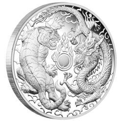 2019 Double Dragon 2oz Silver Proof High Relief Coin The Perth Mint Silver Coins For Sale Silver Coins High Relief