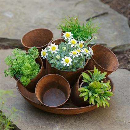 Rustic Flower Pot Multiple Planters Beautiful Flowers Garden Flower Pots Rustic Flowers