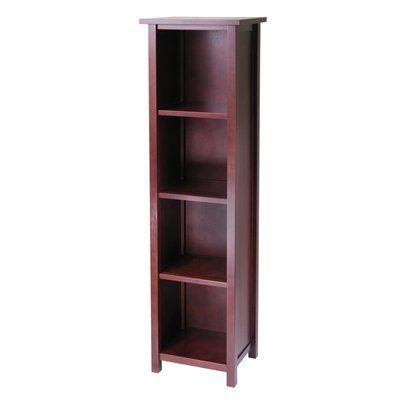 Winsome Wood Bookcase 94416 Milan Storage Shelf