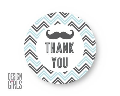 Little Man Thank You Tag Thank You Tags Mustache Party