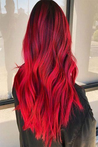 Knall rote haare