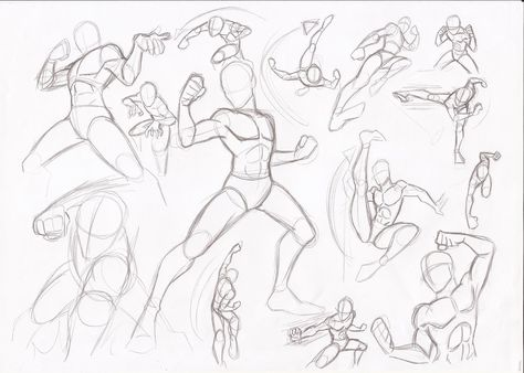 Male Poses Fighting By Rikugloomy On Deviantart Anime Poses Reference Anime Poses Art Reference Poses