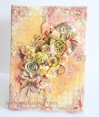 Mixed Media Monday Scrappalicious Craft Ideas Mixed
