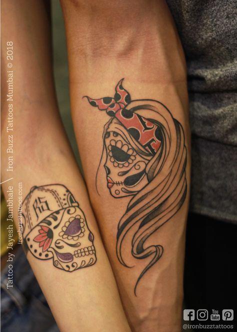 Tattoo by Jayesh Jambhale at Iron Buzz Tattoos India 2018. #tattoo #art #tattooartist #body #design #ideas #india #mumbai #tattooideas #inked #ink #tattoolife #inkedup #ironbuzzexperience #skulltattoo #armtattoo #coupletattoo #love