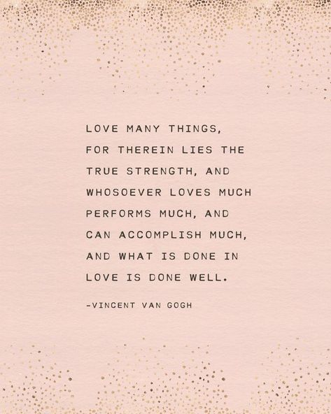 Vincent Van Gogh quote print what is done in love is done   Etsy