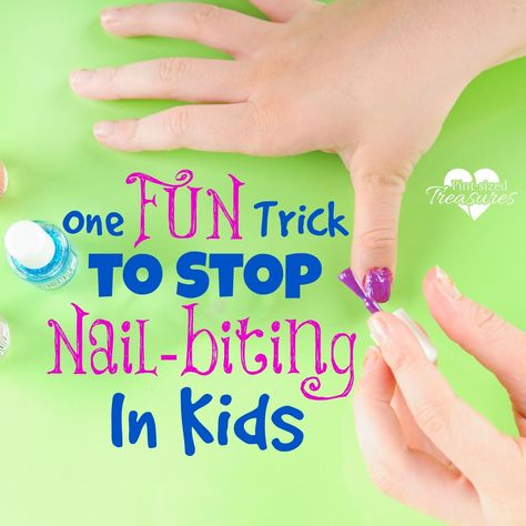How to Stop Nailbiting: One FUN Trick to Stop Nail Biting · Pint sized Treasures #biting #howto #kids #nail #nailbiting #nails #stop