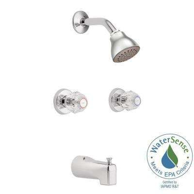 Chateau 2 Handle 1 Spray Tub And Shower Faucet With Valve In