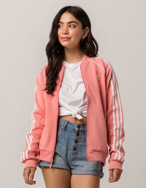 ADIDAS SST Pink Womens Track Jacket | Jacket outfit women