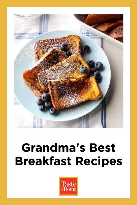 Try our best breakfast recipes to start the day off right. We've rounded up hot and hearty classics like pancakes, biscuits and gravy, egg casseroles and other Grandma-approved favorites.