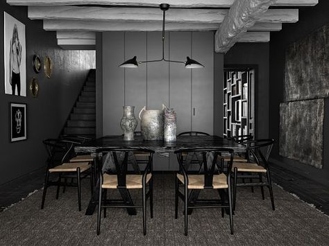 Take inspiration from these 19 black dining room decorating ideas and create a unique eating space in your home effortlessly without adding fancy accents!
