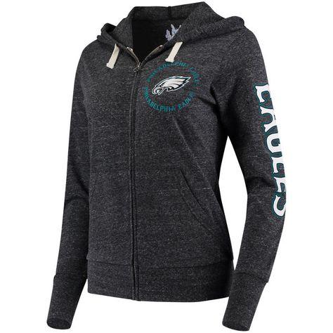Philadelphia Eagles Touch by Alyssa Milano Women's Training Camp Hoodie - Heathered Black 2