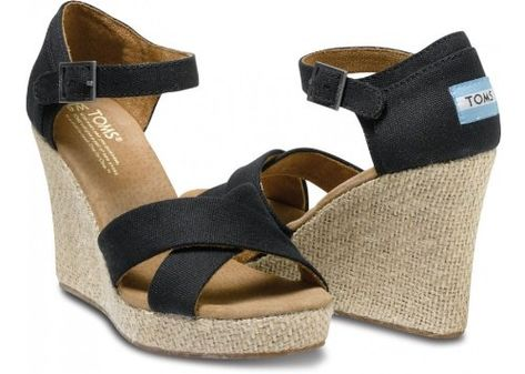 39935f5d5e87 Toms - Womens Black Canvas Strappy Wedges Shoes  Shoes. Nordstrom. Just say
