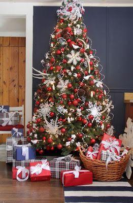 Decoracion De Arboles De Navidad Modernos Color Rojo Arboles De Navidad Decorados Arbol De Navidad Plateado Decoracion Navidad
