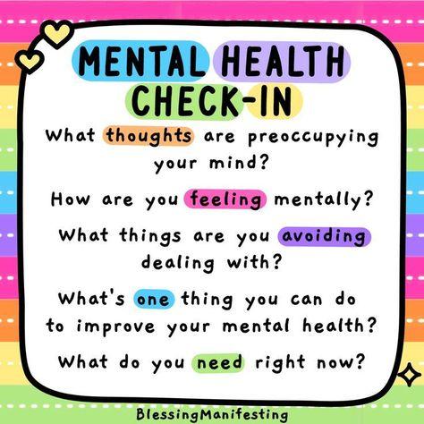 Mental Health Check In #mentalhealthawareness #personalgrowth #selfdevelopment #growthmindset