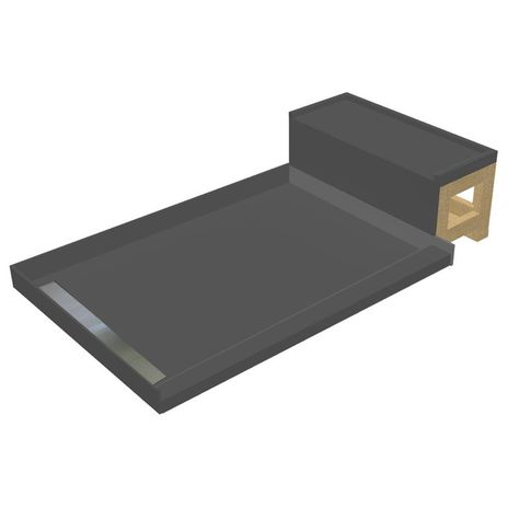Tile Redi 32 In X 72 In Single Threshold Shower Base In Gray And