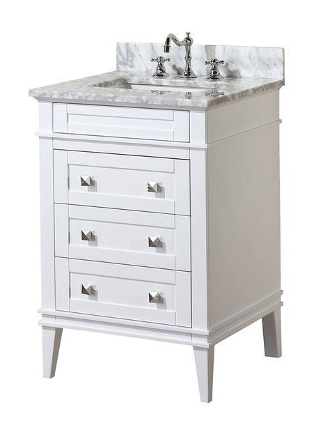 Bliss 24 High Glossy White Wall Mount Modern Bathroom Vanity In Stock