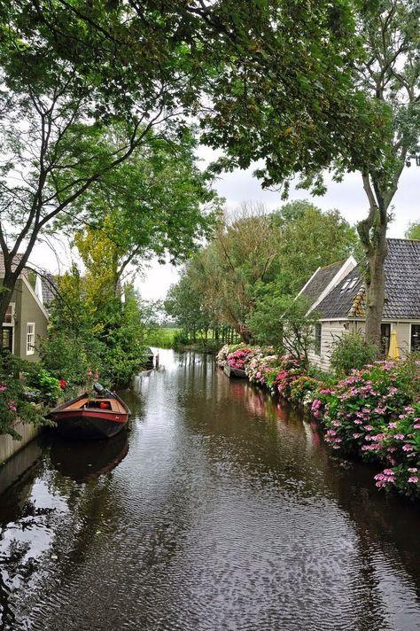 Picturesque village of Broek in Waterland, Netherlands